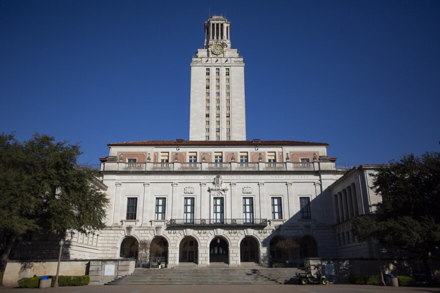 The tower at the University of Texas Austin