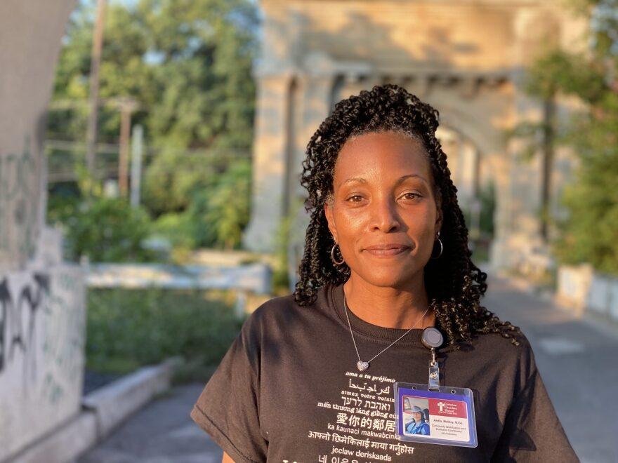 Aisha Mobley, outreach worker for United Christian Churches.jpg