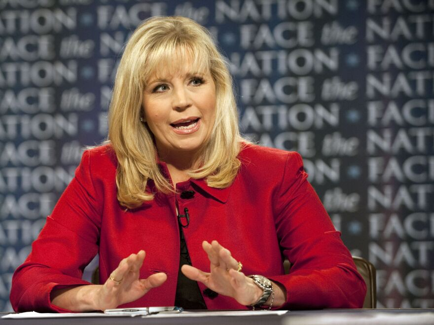 Liz Cheney during a 2010 appearance on the CBS news program <em>Face the Nation.</em>