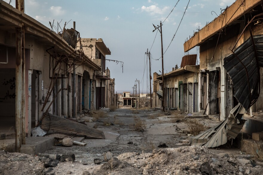 Parts of the city of Sinjar in northern Iraq were still not rebuilt in 2019, years after the U.S.-backed fighting by Iraqi and Kurdish forces to oust ISIS.