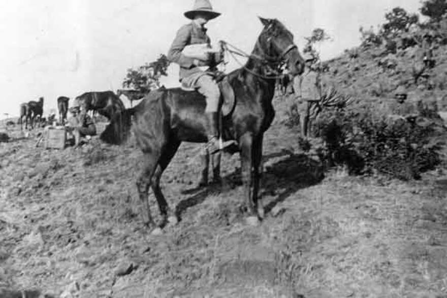 This photo shows Winston Churchill as a correspondent for the Morning Post during the Boer War, which took place in what's now South Africa.