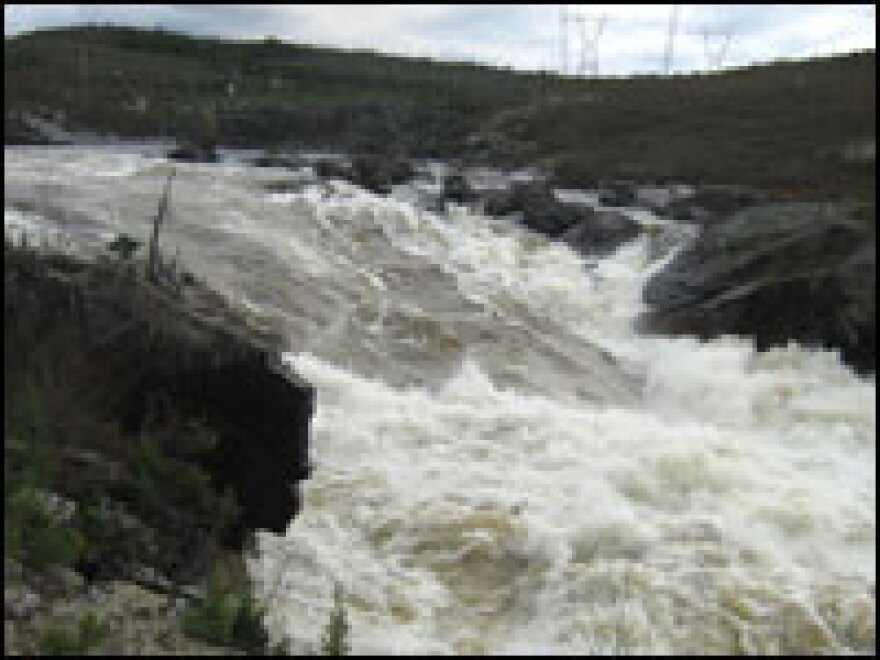 Seventy percent of the Rupert River will be diverted at a location just above this cataract in northern Quebec.