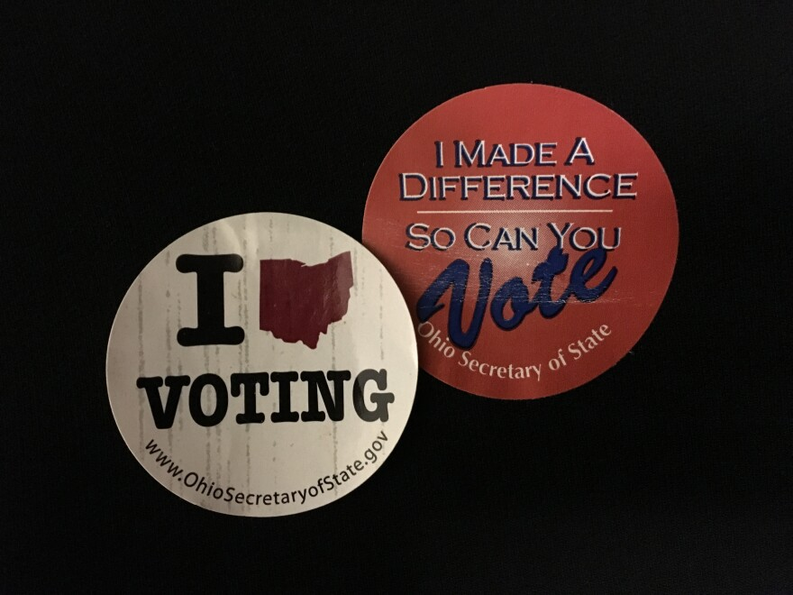 Ohio I voted stickers