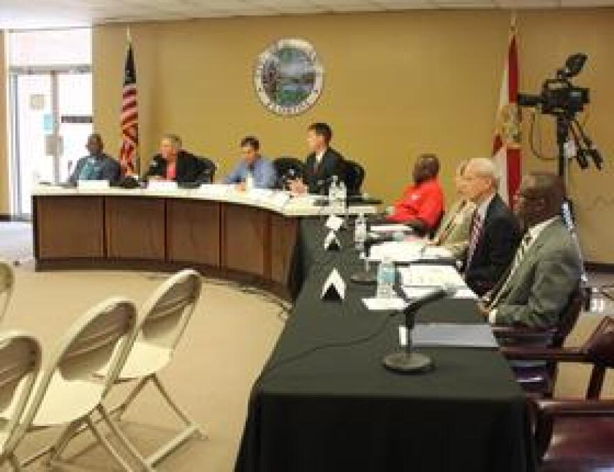 The picture reflects members of the Dozier Task Force during their first meeting about two weeks ago. They just had their final meeting Friday.