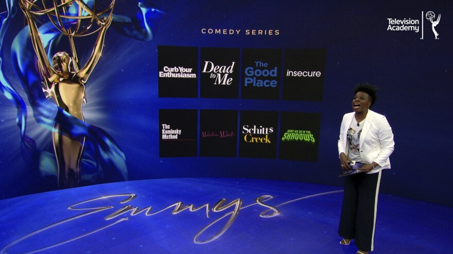 Leslie Jones announces the 2020 Emmy nominees for Outstanding Comedy Series Tuesday during the 72nd Emmy Awards Nominations Announcements in Los Angeles.
