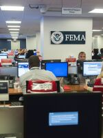 In this 2017 file photo, the inside of the Federal Emergency Management Agency headquarters is seen in Washington, D.C.