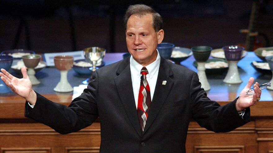 Roy Moore has been in the public eye for almost two decades amid several controversies while on the Alabama Supreme Court.