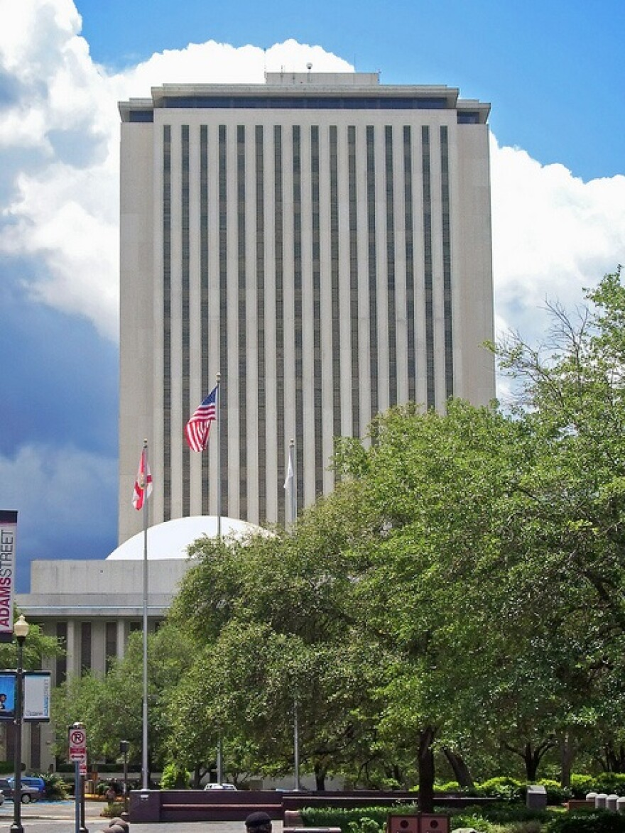 The Florida Capitol Building from Adams Street