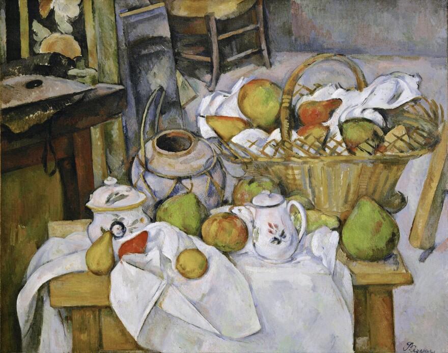 """<em>The Kitchen Table (La </em><em>table de cuisine)</em> by Paul Cezanne, 1888-18€""""90."""