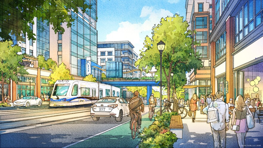 Drawing shows what the Gateway District might look like after it's redeveloped.