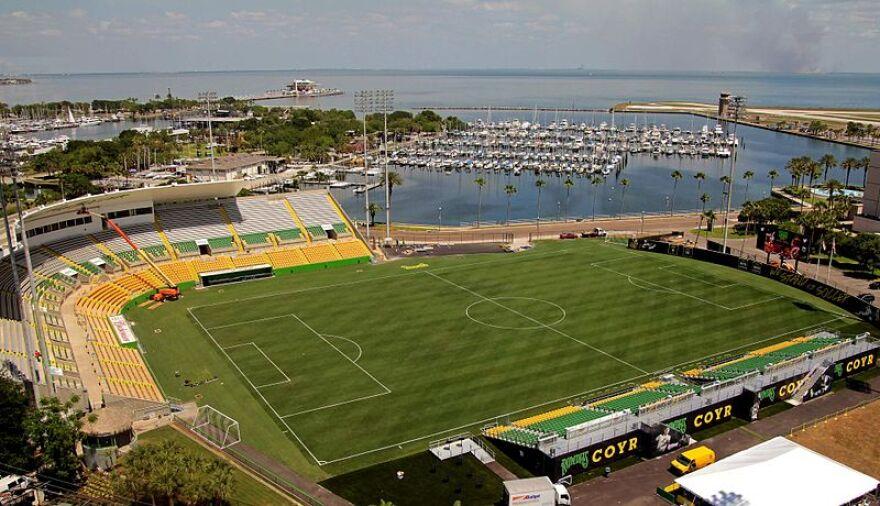Al Lang Stadium at St. Peterburg, home of the Tampa Bay Rowdies..