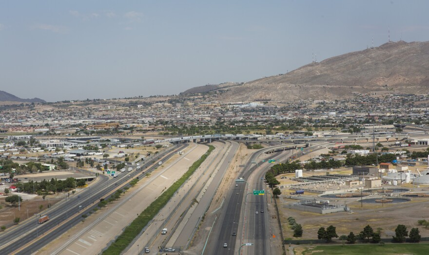 The Bridge of the Americas from Juarez into El Paso. Curbing drug trafficking across the border into the U.S. is one way to decrease drug gang violence in Mexico.