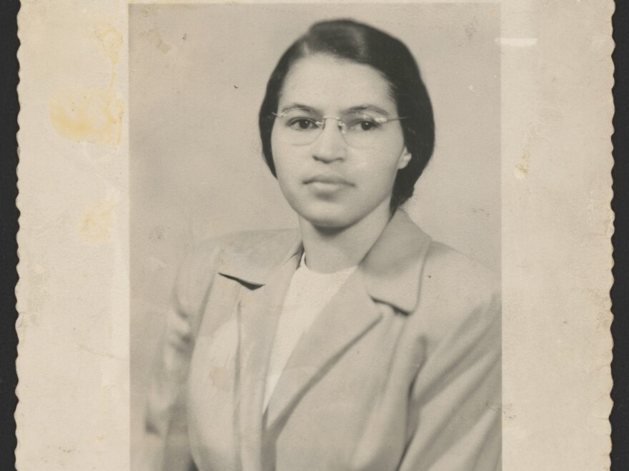 """Rosa Parks, shown here in a photo from 1950, is famous as a """"quiet seamstress"""" who refused to give up her bus seat — but a newly-available set of papers reveals a more animated voice, says an archives specialist working with the documents."""