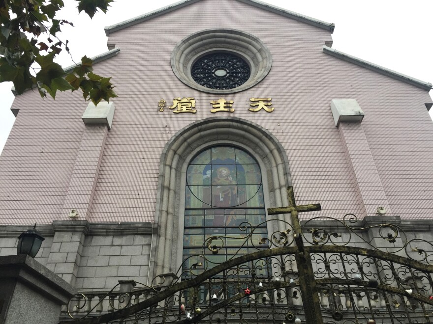 There are 12 million Catholics in China, less than 1 percent of the population. St. Peter's Catholic Church in downtown Shanghai is one of the country's few officially approved churches.