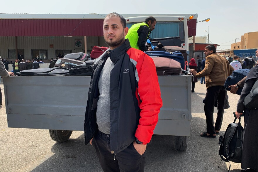 Khalil Abu Ibrahim left Gaza with his family last year, but had to return after struggling to earn a living in Europe. Now he provides a service assisting other young Palestinians as they apply for visas.