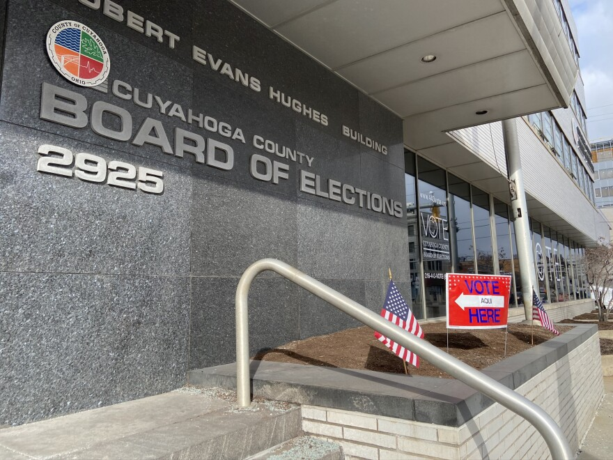 a photo of the cuyahoga county board of elections