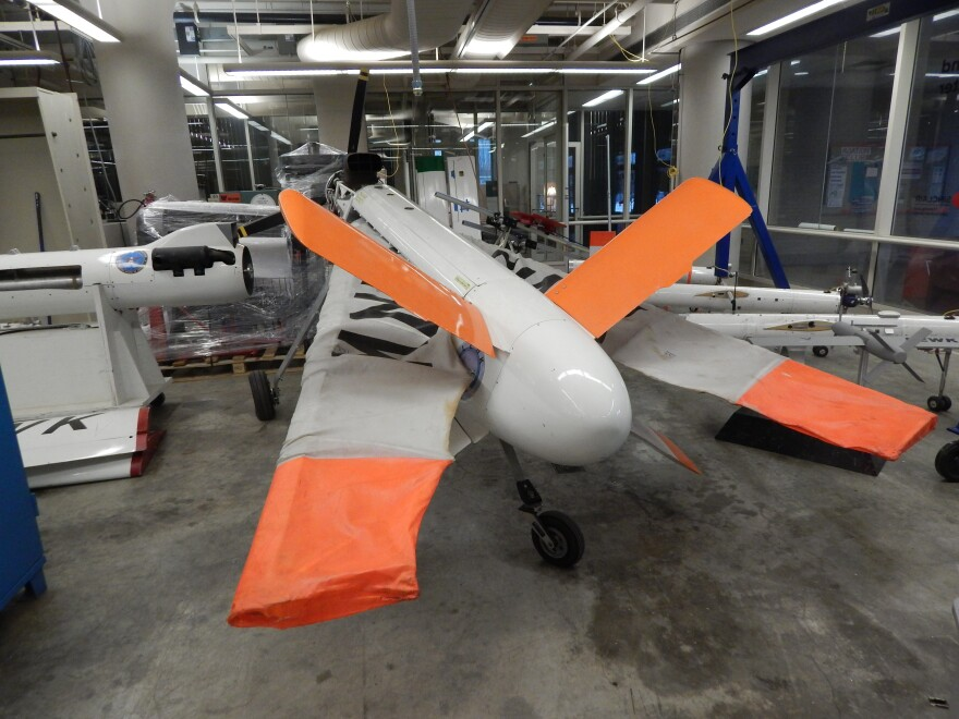 A retired Air Force drone is used in the classroom at Sinclair Community College.