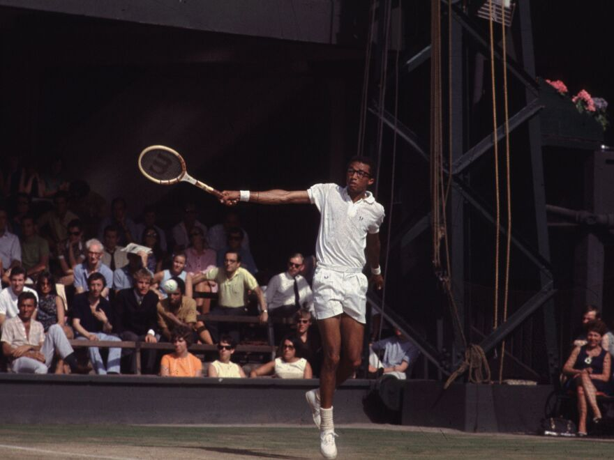 American tennis champion Arthur Robert Ashe Jr. (1943 - 1993) was the first black player to win a major men's tennis tournament in 1985.