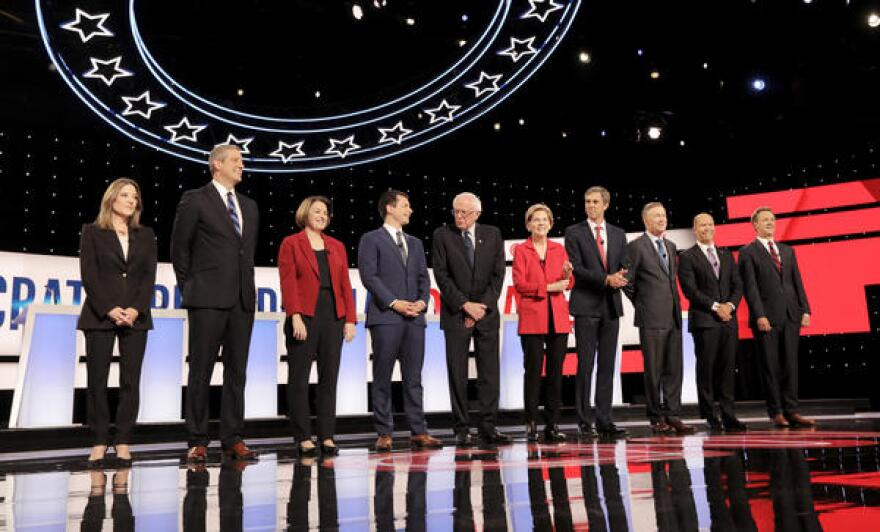 The first 10 Democratic candidates prepare to debate on Tuesday night in Detroit.