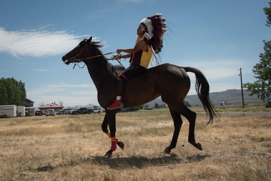 Photo of rider on horse.