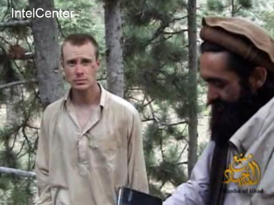 This image provided by IntelCenter on Dec. 8, 2010, shows a frame grab from a video released by the Taliban containing footage of a man believed to be Sgt. Bowe Bergdahl. The 26-year-old Army sergeant was captured by the Taliban more than three years ago.