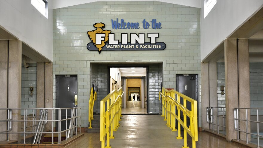 The interior of the Flint water plant is seen on Sept. 14 in Flint, Mich. The city is still struggling to replace thousands of corroded lead pipes that tainted drinking water.
