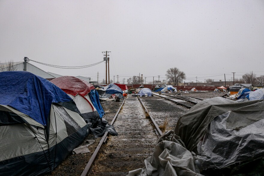A photo of Camp Last Hope.