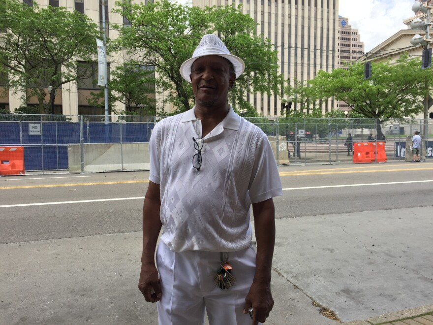 Dayton 57-year-old Kimaru Watenza says he feels the city's overwhelming police response was overkill.
