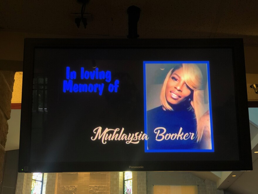 Funeral services were held Tuesday for Muhlaysia Booker, the transgender woman killed in Dallas.