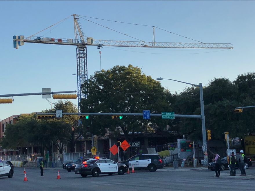 South Congress is closed between West James Street and Academy Drive.