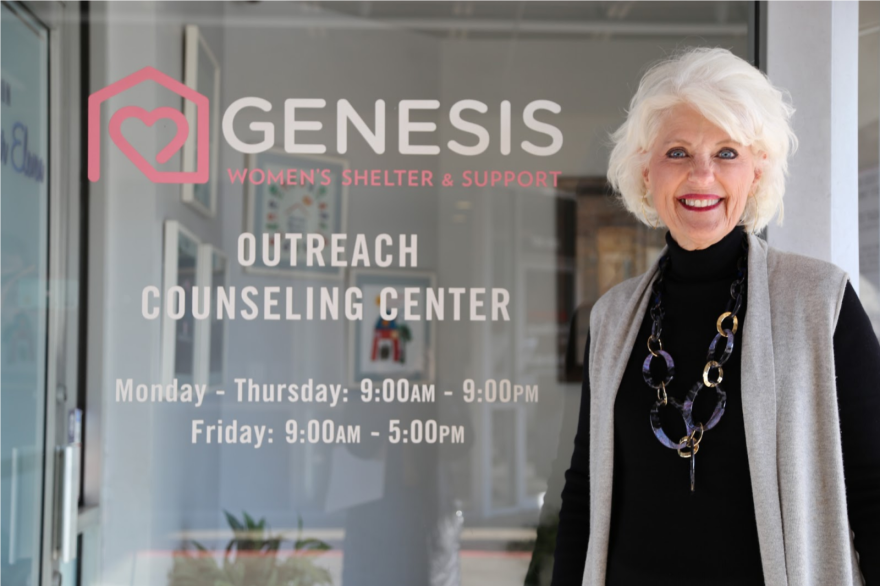 Jan Langbein is the CEO and founder of Genesis Women's Shelter in Dallas. She's worried that her shelter won't be able to serve domestic violence victims during the pandemic.