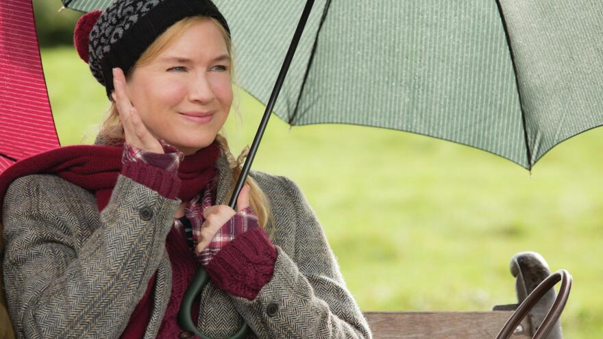 London's Bridget, falling down. Bridget Jones (Renee Zellweger) in <em>Bridget Jones's Baby</em>.