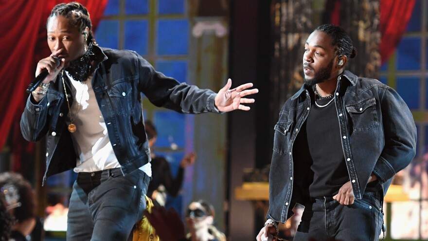 Future (left) and Kendrick Lamar, onstage at this summer's BET Awards, set their own rules when it came to album rollouts in 2017.