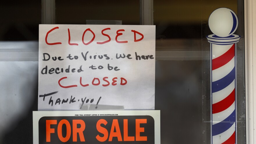 A closed business in Grosse Pointe Woods, Mich., is a sign of the enormous impact of the coronavirus pandemic on public health and the economy. An unprecedented crisis, met with an unprecedented government response, has the ability to transform the country's politics.