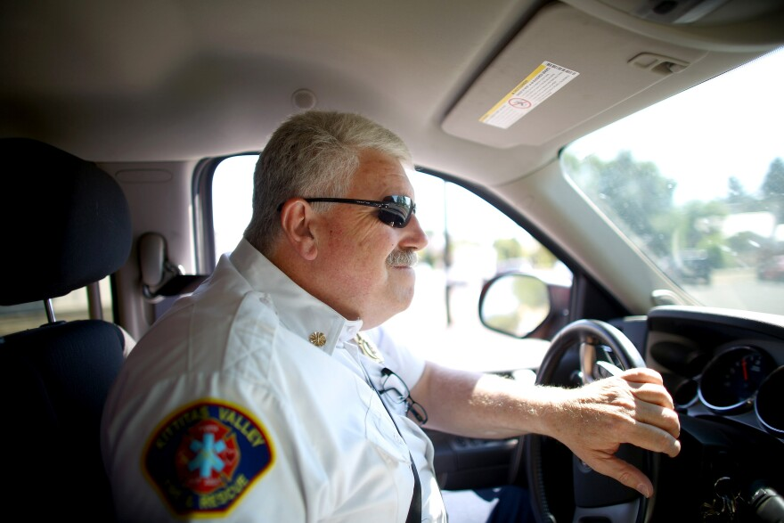 """John Sinclair, fire chief for Kittitas Valley Fire and Rescue, says his communities have seen some near misses from wildfires this summer. """"Unfortunately, sometimes, it takes a disaster to really capture the community's attention,"""" he says."""