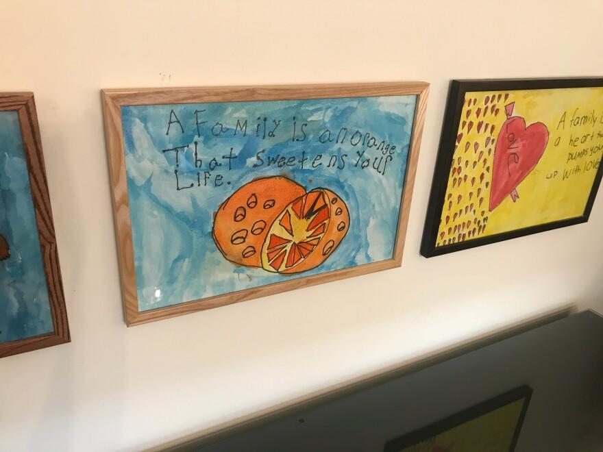a photo of artwork