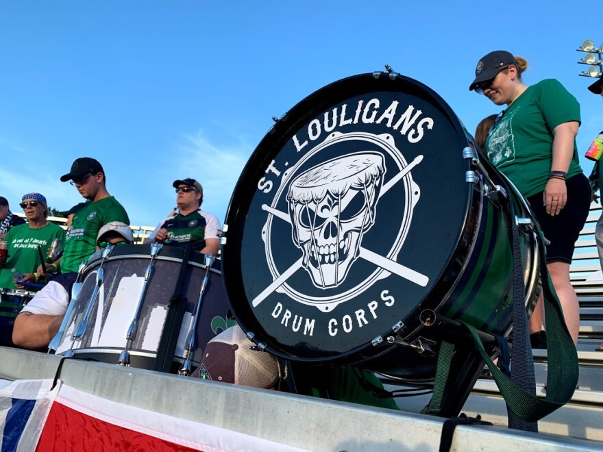 St. Louligans turned out to a recent St. Louis FC game in at their home field in Fenton.