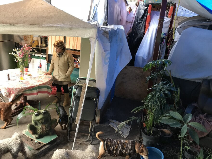 Guadalupe Padilla Mendoza still lives in a shelter made of tents and tarps a year after the deadly earthquake that rocked Mexico City on Sept. 19, 2017. After dedicating her entire professional life to public service, she says she feels abandoned by the government.