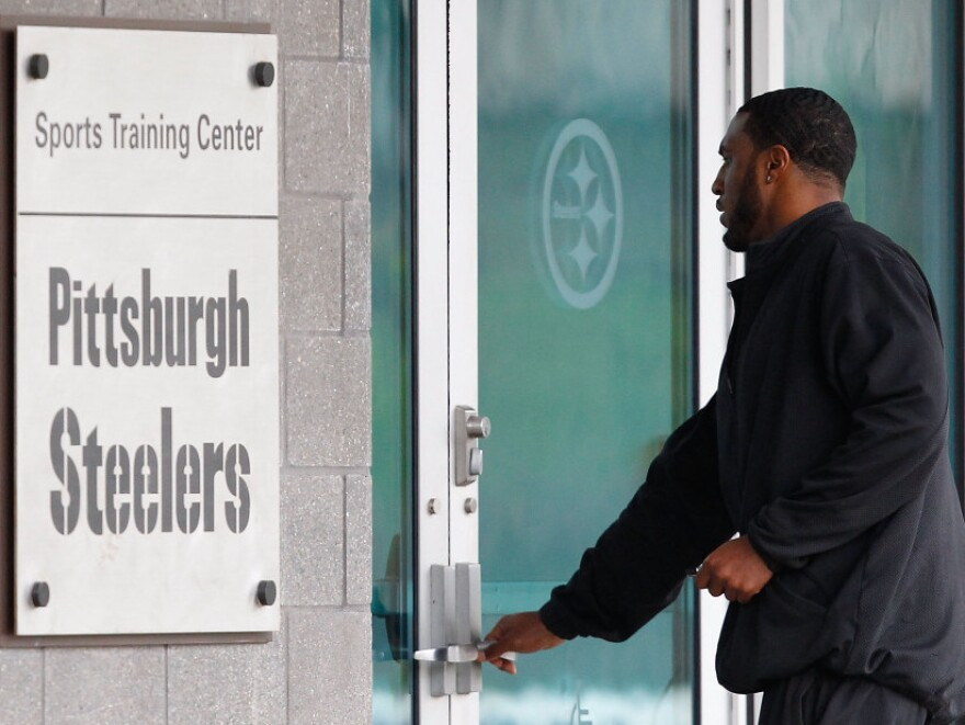 A day after the NFL lockout ended, Ryan Mundy of the Pittsburgh Steelers reports to the South Side training facility.