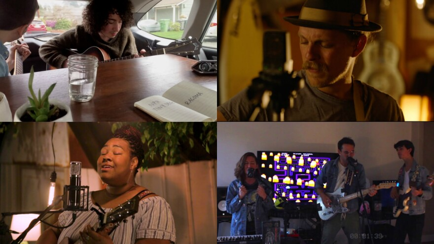 Clockwise from top left: Racoma; Eric Long; Goons; Astyn Turrentine