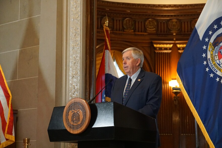 Parson has served as governor since 2018.