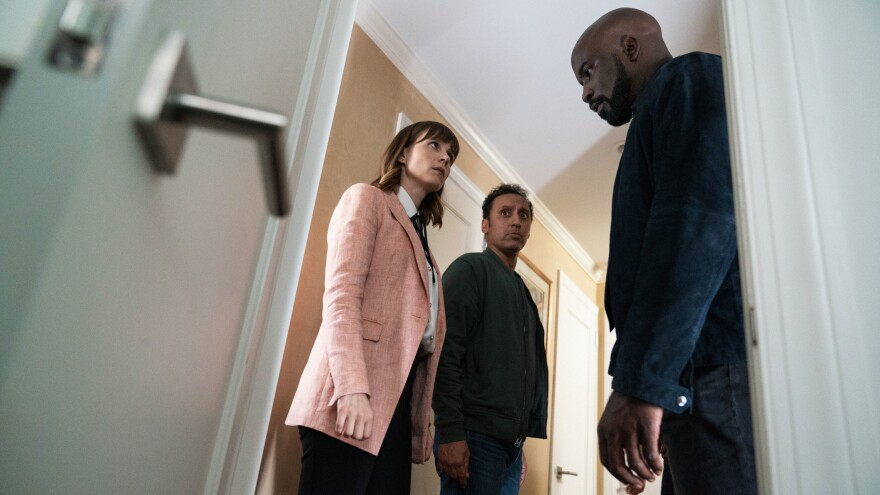 Katja Herbers, Aasif Mandvi and Mike Colter investigate phenomena that are not easily explained on the CBS series <em>Evil.</em>