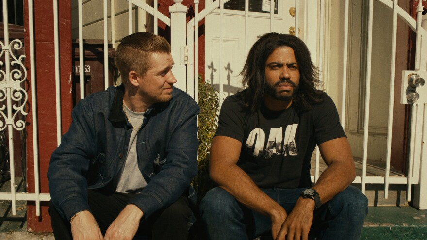 In <em>Blindspotting</em>, the friendship between hotheaded Miles (Rafael Casal, left) and ex-con Collin (Daveed Diggs) is a window into the race and class politics of a gentrifying Oakland.