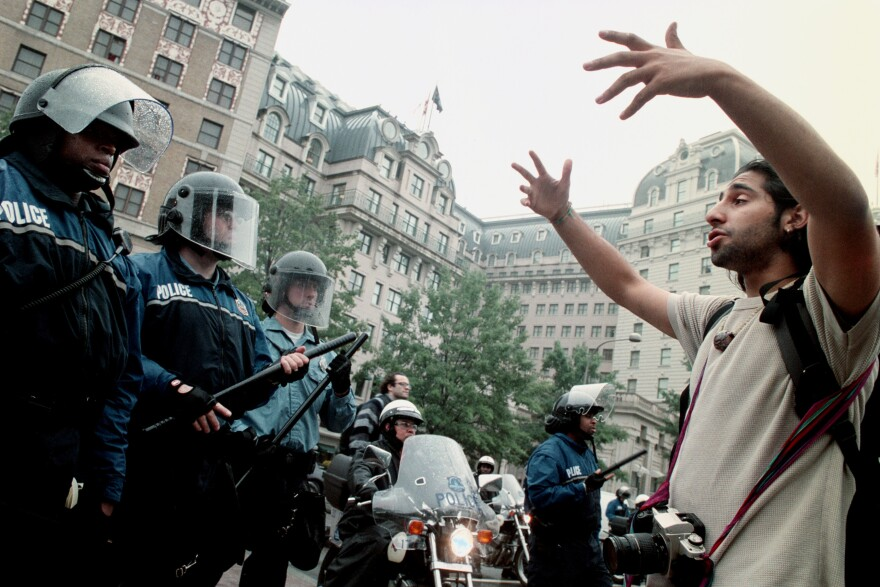 During a 2002 protest, police trapped a crowd in Pershing Park in Washington and started mass arrests. Protesters pleaded with police to let them leave. In 2015, a federal judge approved a settlement that laid out rules by which U.S. Park and D.C. police could engage mass demonstrations.
