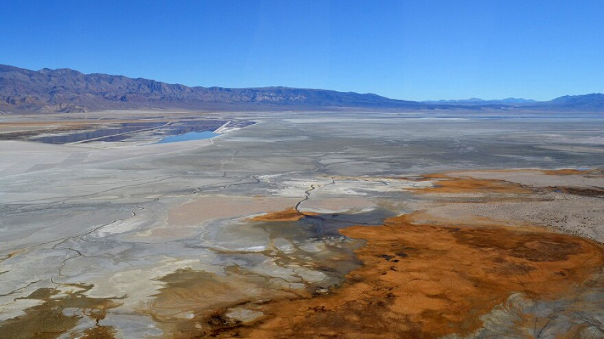 Owens Lake — which dried up after losing its water source, the Owens River, to Los Angeles — is known to be a source of air pollution. The city of L.A. is in court over obligations to control dust pollution at the lake.