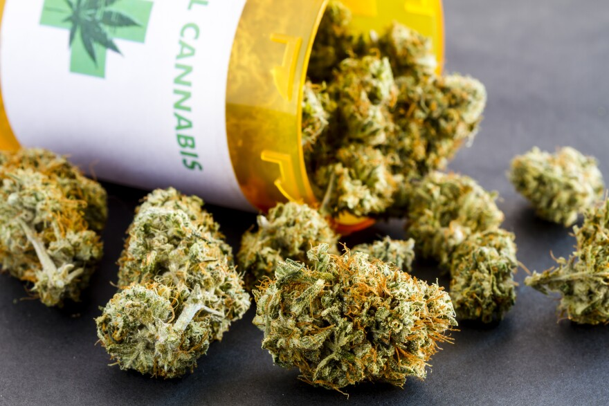 a photo of medical marijuana