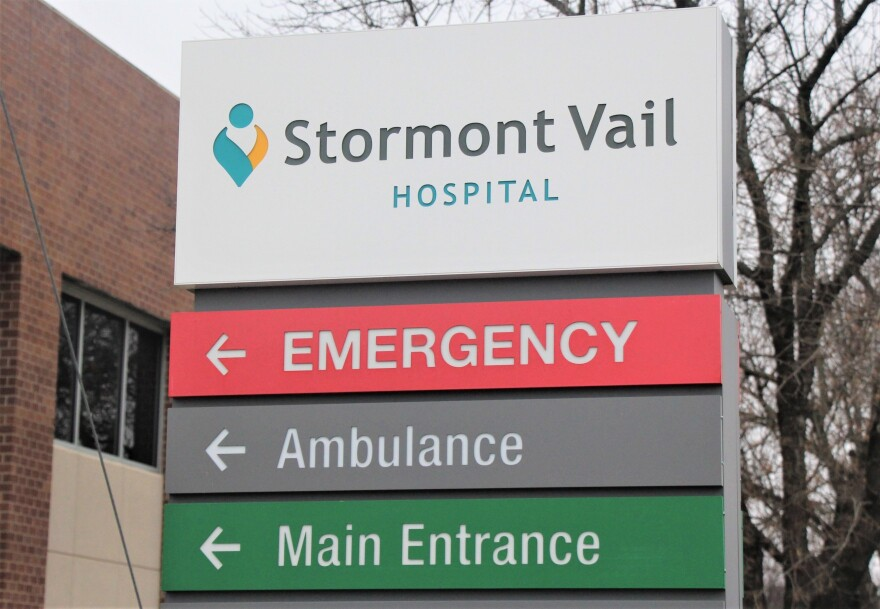 a photo of a hospital sign