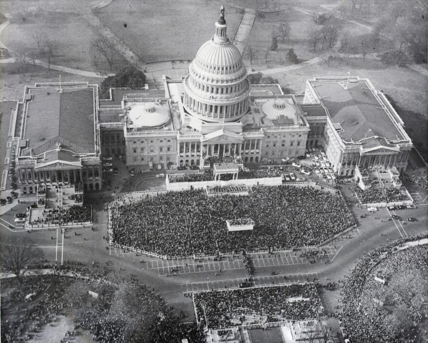 In 1953, President Dwight D. Eisenhower's inauguration drew a large crowd.