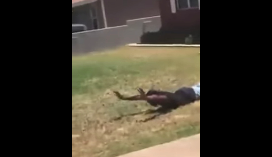 In cell phone footage captured on May 16, 21-year-old Tye Anders repeatedly asks Midland Police Department officers to lower their guns as he lies on the ground with his hands up.