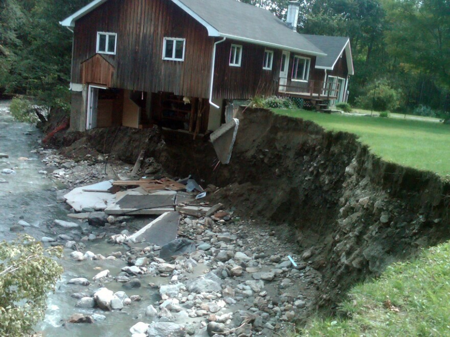 A house in Rochester, Vt., was destroyed by hurricane turned tropical storm Irene. Although more places may be at risk from natural disasters, there's been no rush to modernize safety standards.